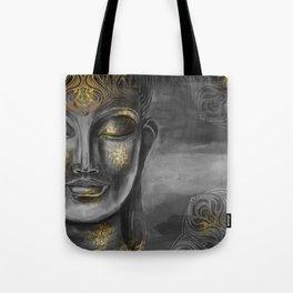 Buddha Gray Tote Bag
