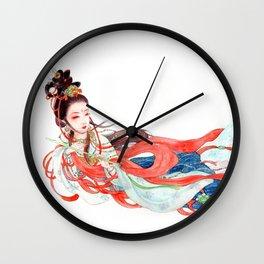 Watercolor Chinese Beauty -  Feitian Wall Clock