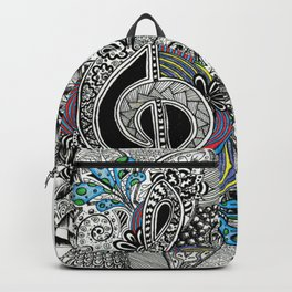 Musical Zentangle Backpack