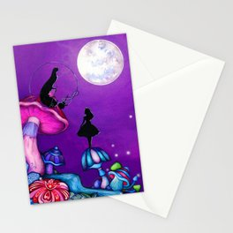 Alice in Wonderland and Caterpillar Stationery Cards