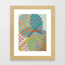 Triangle Pattern No. 11 Circles Framed Art Print