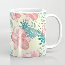 Tropical Flowers Palm Leaves Finesse #7 #tropical #decor #art #society6 Coffee Mug