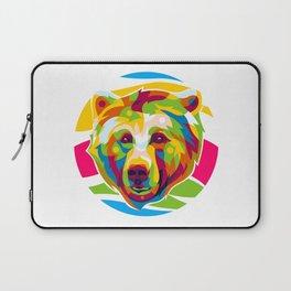 Wild Bear Pop Art Laptop Sleeve