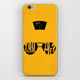 Taxi Driver - you talking to me? iPhone Skin