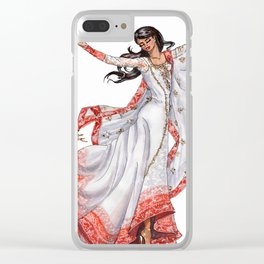 DANCING GIRL Clear iPhone Case