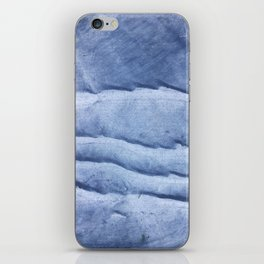 Blue abstract watercolor iPhone Skin