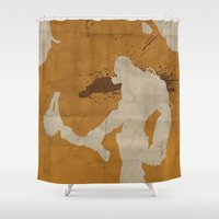 borderlands Shower Curtains featuring Borderlands 2 - Salt the Wound by Art of Peach