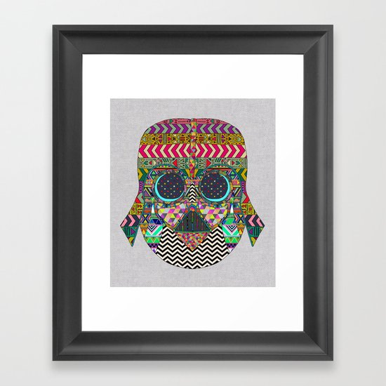 VADER GOT TIRED OF BLACK / makeover Framed Art Print