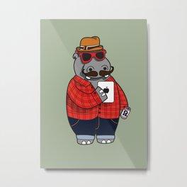 Hipposter Metal Print