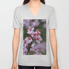 Floral Print 033 Unisex V-Neck