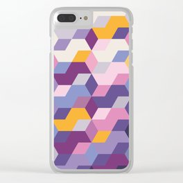 Violet Pattern Clear iPhone Case