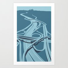 Los Angeles Freeways Art Print