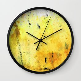 Yellow Orange Abstract Art - The Dreamer - By Sharon Cummings Wall Clock