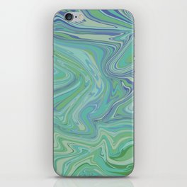 Blue Water Paint iPhone Skin