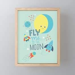 To The Moon And Back Framed Mini Art Print