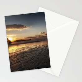 Sunset and wet sand at Worms Head Stationery Cards