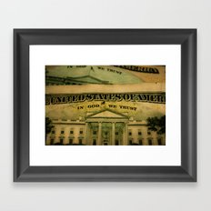 money in God we trust Framed Art Print