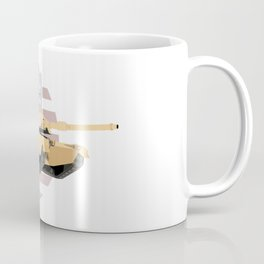 M1A1 Abrams Tank with American Flag Coffee Mug