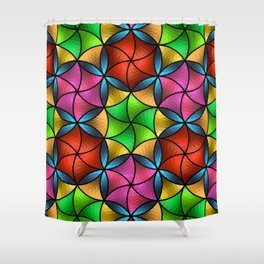 Stained Glass Star Shower Curtain