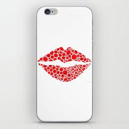 Red Lips Art - Big Kiss - Sharon Cummings iPhone Skin