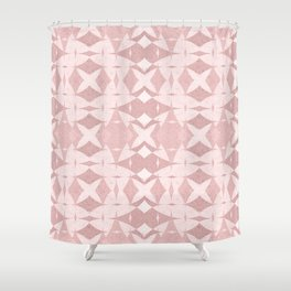 Pastel Coral Ancient Near East Geometric Shower Curtain