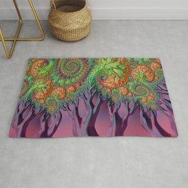 LSD - Psychedelic Trees - Nature - Fractal - Manafold Art Rug