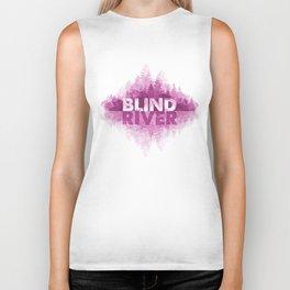 Blind River Trees (pink) Biker Tank