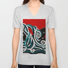 Spawning at Skoags Creek Unisex V-Neck