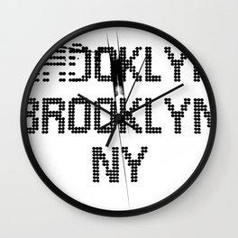 BROOKLYN BROOKLYN Wall Clock