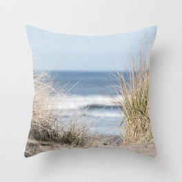 The Beach Beckons    Path To Ocean Shore Throw Pillow