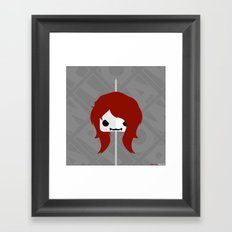 Marshmallow Black Widow Framed Art Print
