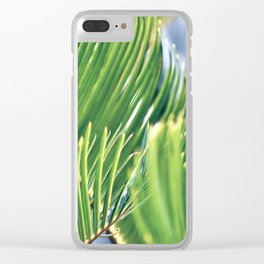 Tropical Texture Clear iPhone Case