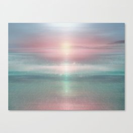 """""""Pink sky over blue sea Sunset"""" Canvas Print"""