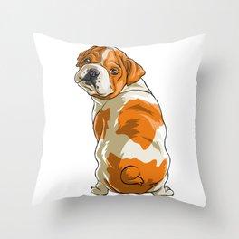 Bulldog Funny Pet Puppy Dog Lover Throw Pillow