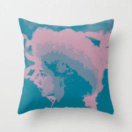 Afro Chic Mauve Teal Throw Pillow
