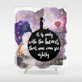 Little Prince With the Heart Shower Curtain