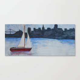 Sailing by The Bay Canvas Print