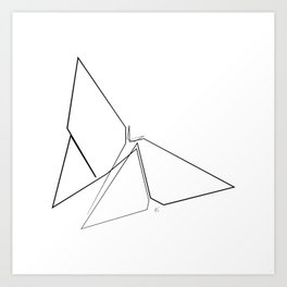 """"""" Animals Collection """" - Origami Butterfly Art Print"""