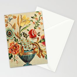 Crewel Still Life Antique Elizabethan Vector Painting Stationery Cards