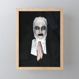 Valak Praying Framed Mini Art Print