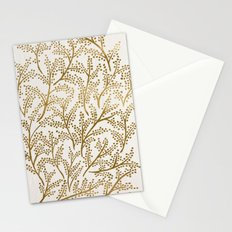 Gold Branches Stationery Cards