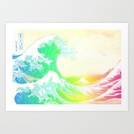 The Great Wave Rainbow Art Print