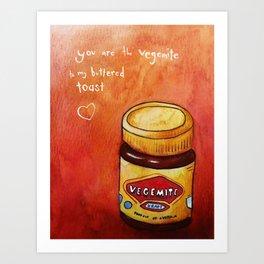 vegemite to my buttered toast Art Print