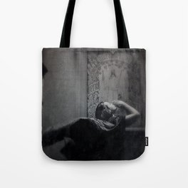 Slytherin Inspired Gothic Dark Angel Black and White Tote Bag