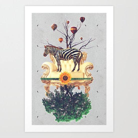 The world upside down. Art Print