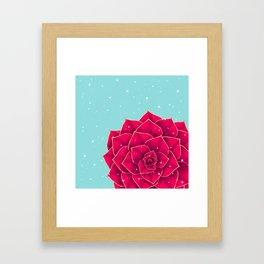 Big Holidays Christmas Red Echeveria Design Framed Art Print