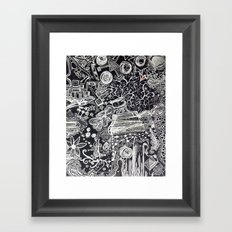 White/Black #2  Framed Art Print