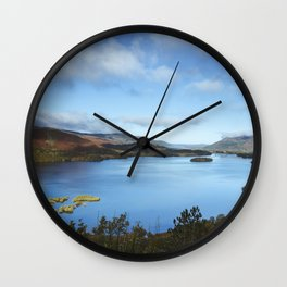 View over Derwent Water to Keswick. Lake District, UK. Wall Clock