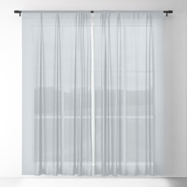 Purely Refined Light Pastel Blue Grey Solid Color Pairs To Sherwin Williams Upward SW 6239 Sheer Curtain