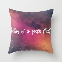 fresh start Throw Pillow